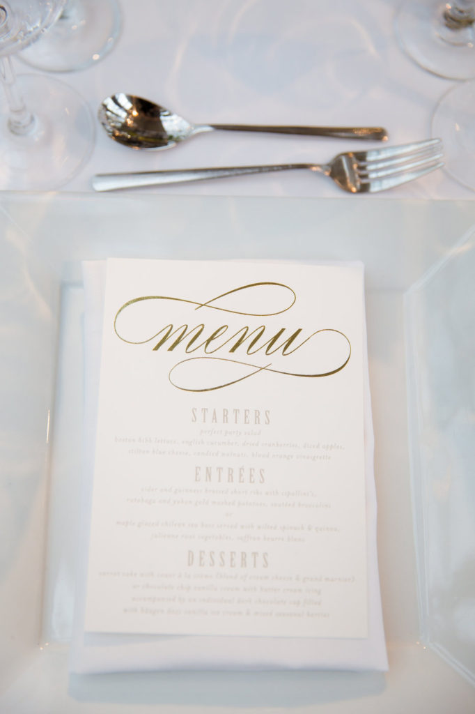 wedding menu cards new york wedding planner statuesque events