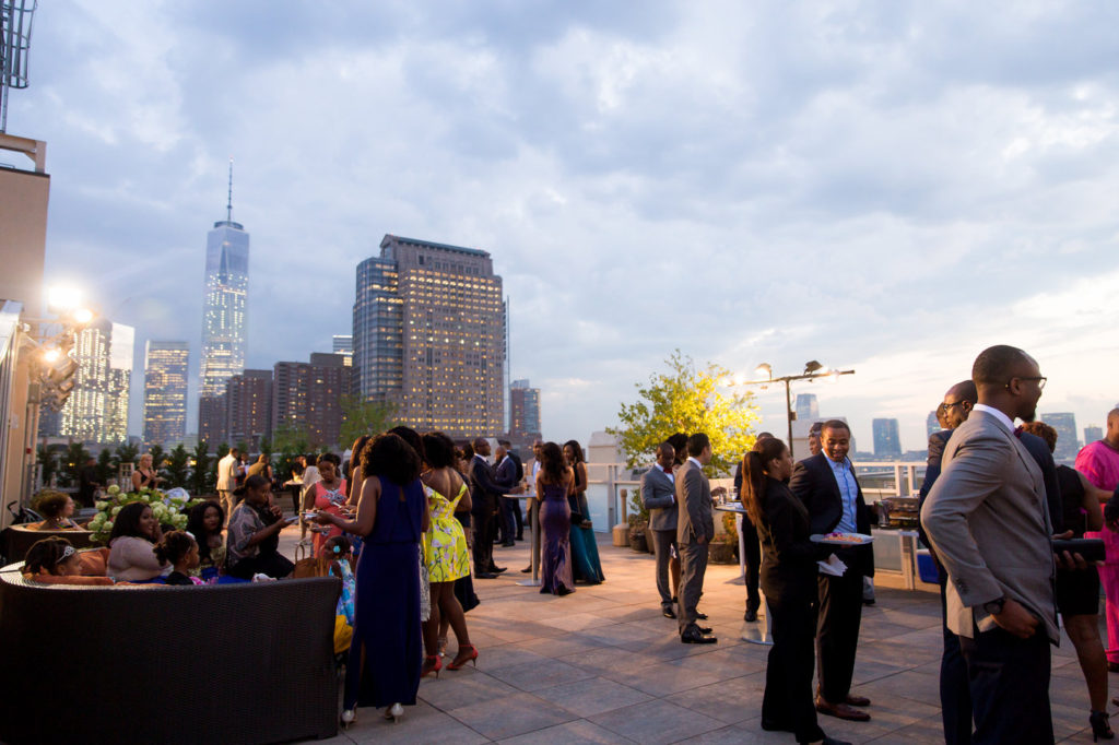 tribeca rooftop cocktail hour new york city wedding planner statuesque events