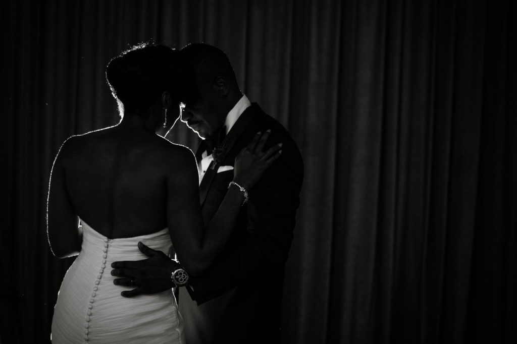 black couple first dance wedding new york city wedding planner statuesque events