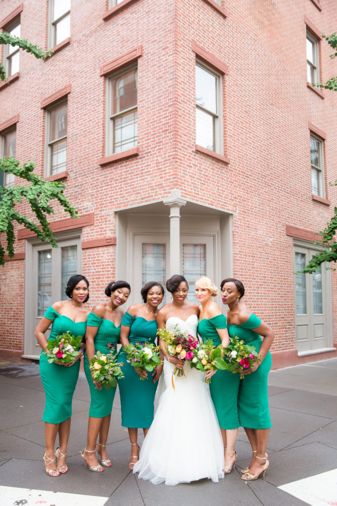 bridesmaids in tribeca new york city ny wedding planner statuesque events