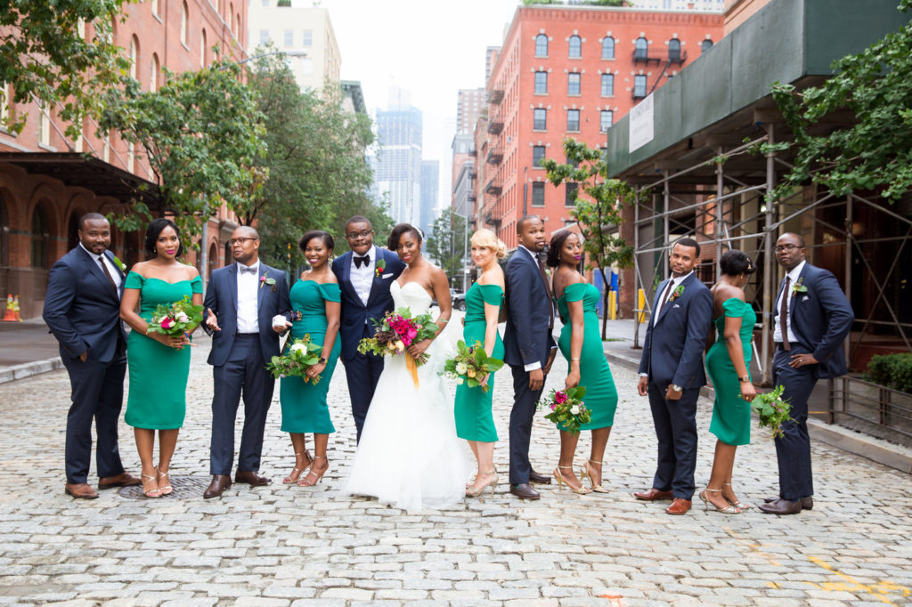 bridal party tribeca new york city wedding planner statuesque events