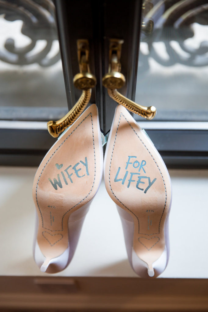 sophia webster shoes on wedding day new york wedding planner statuesque events