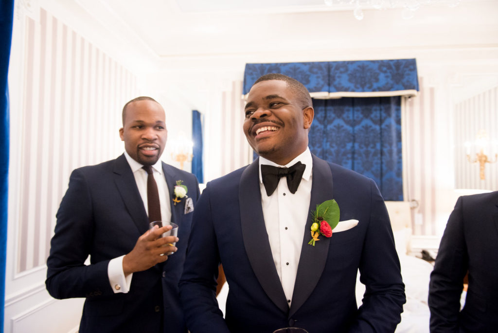 groom and groomsmen st regis hotel new york wedding planner statuesque events