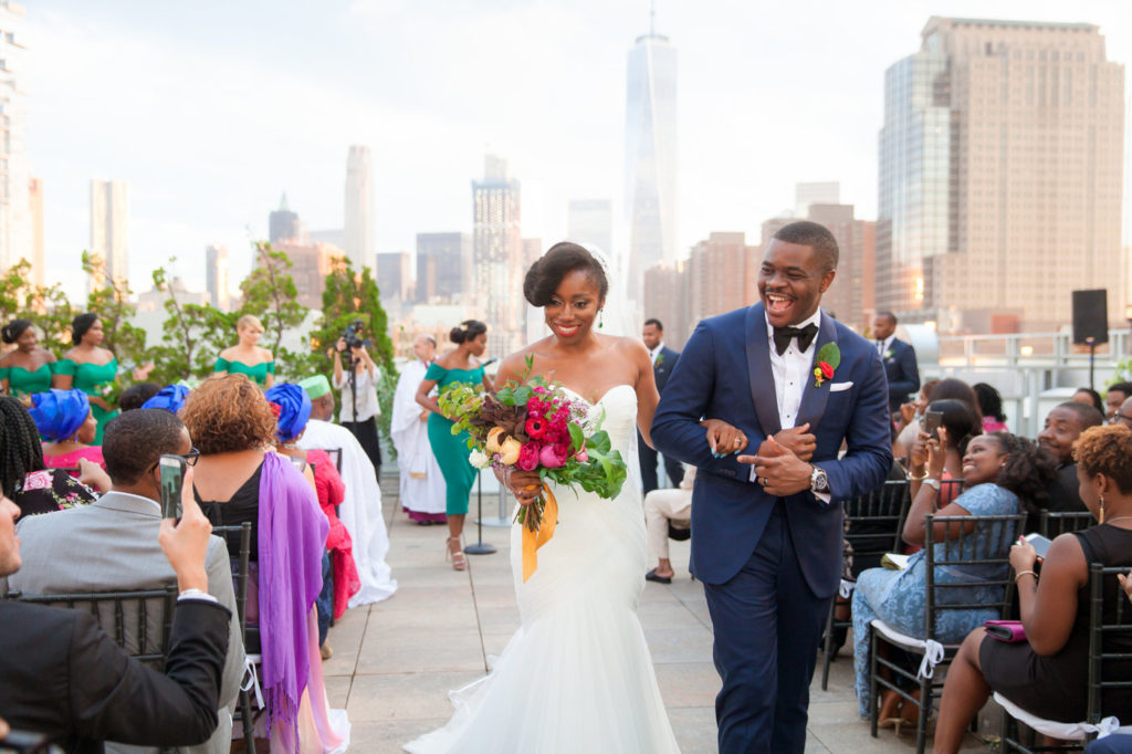 tribeca rooftop wedding ceremony nigerian wedding planner new york statuesque events