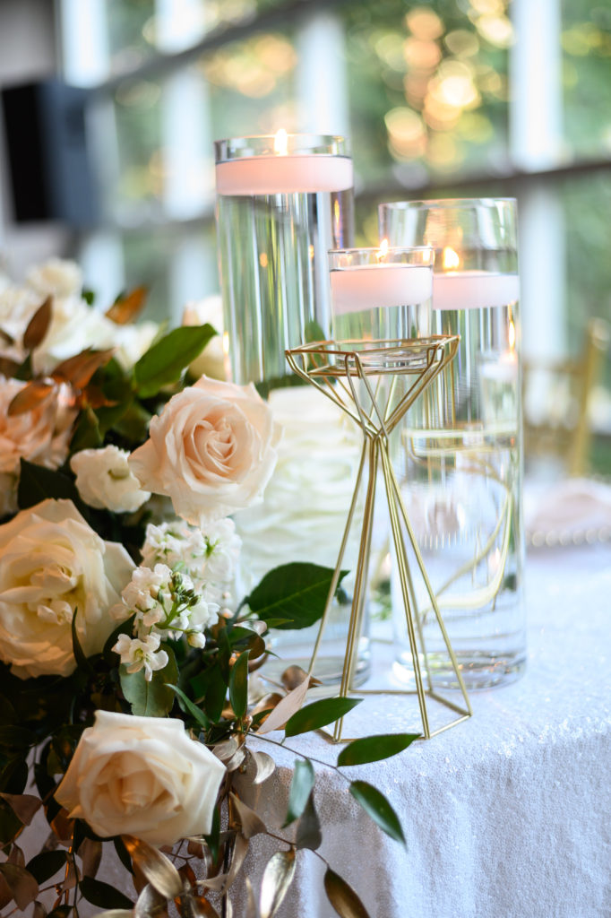 geometric candle holders maryland wedding planner statuesque events
