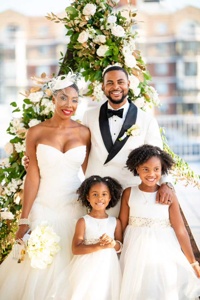 black family on wedding day maryland wedding planner statuesque events