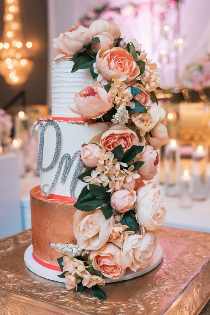 peach wedding cake idea statuesque events