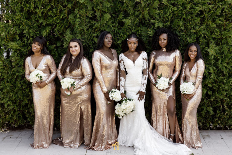 rose gold bridesmaids dresses statuesque events