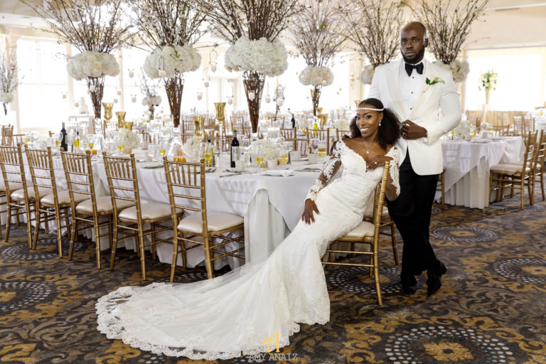 black bride and groom statuesque events