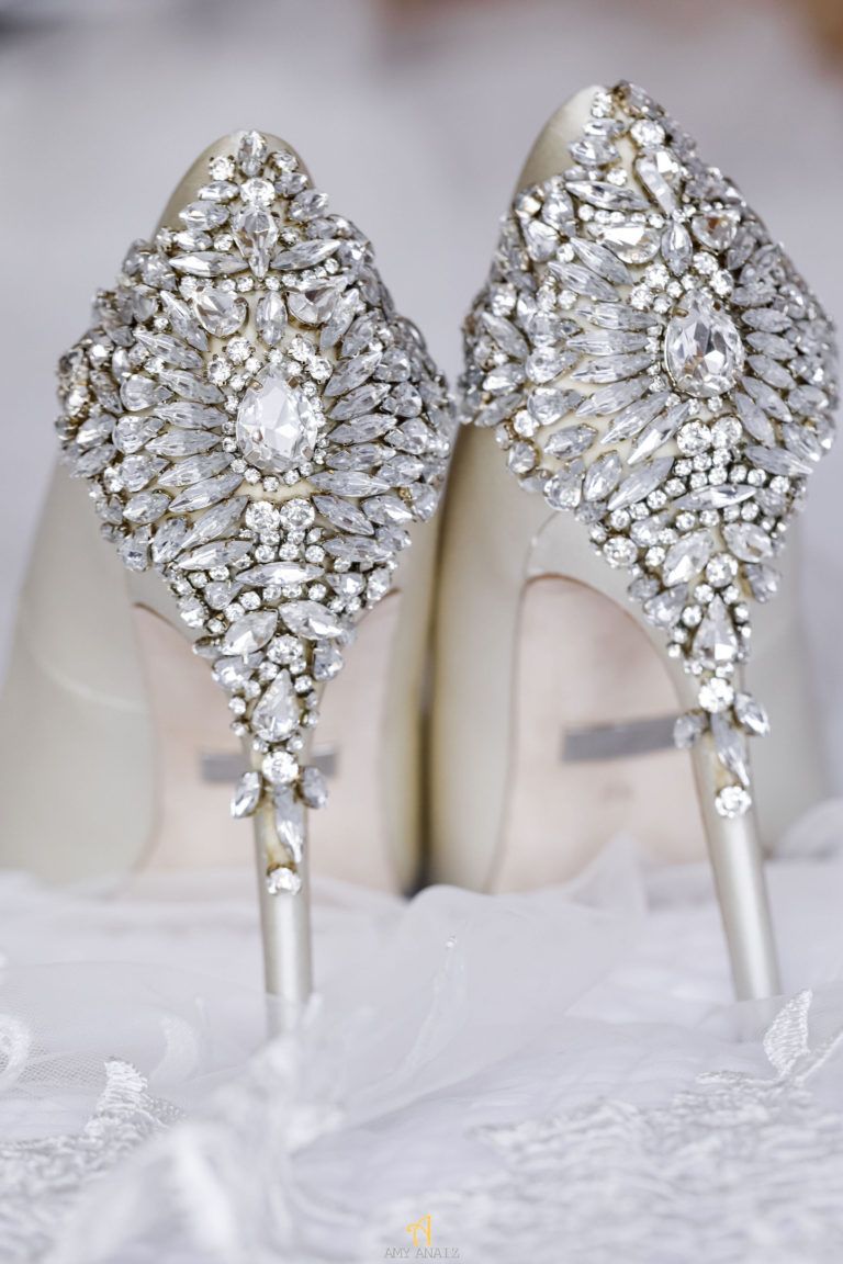 bling wedding shoes statuesque events