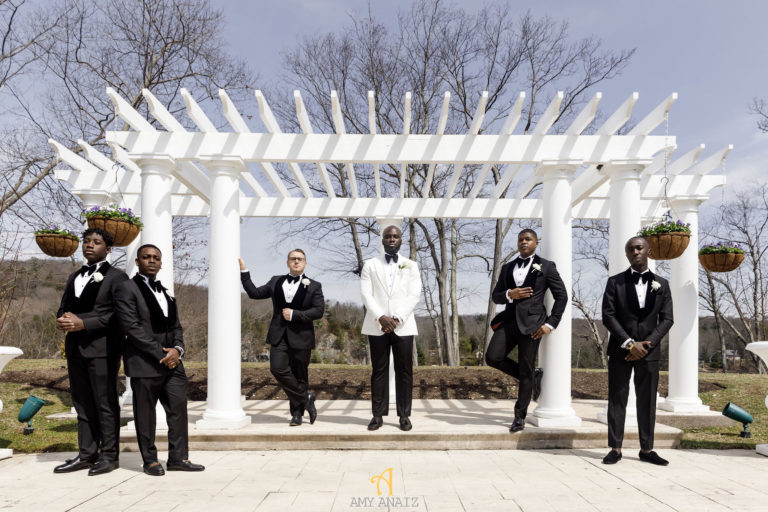 white tux groom wedding day statuesque events