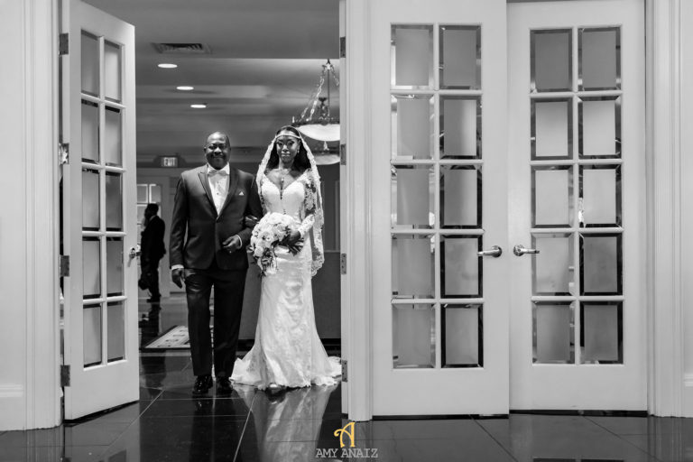 ghanaian bride and father usa wedding statuesque events
