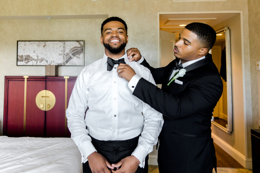 wedding at the mandarin oriental hotel washington dc groom and groomsmen statuesque events