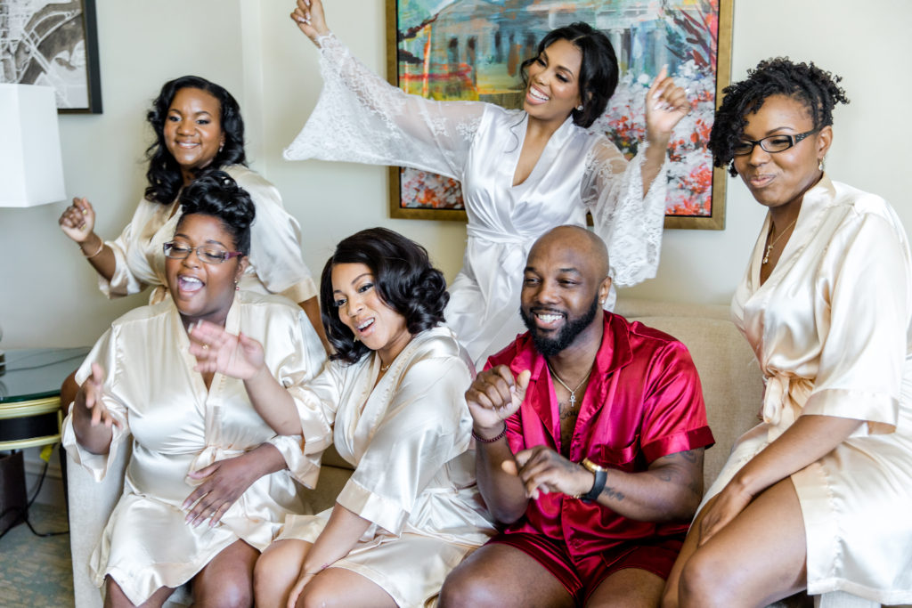 bridesmaids and man of honor washington dc wedding statuesque events mandarin oriental hotel dc