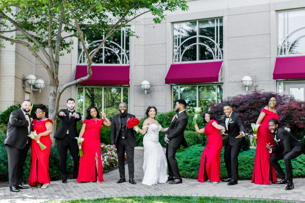 wedding at the mandarin oriental hotel washington dc bridal party statuesque events