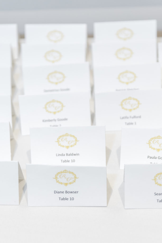 custom place cards washington dc wedding planner statuesque events