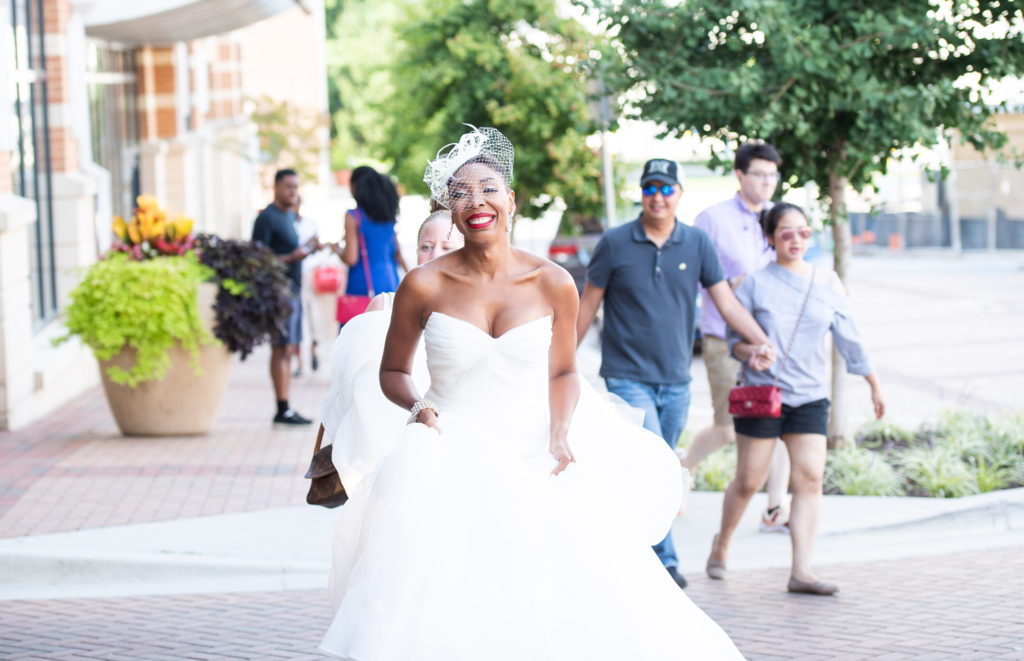 bride on the way to first look maryland wedding planner statuesque events