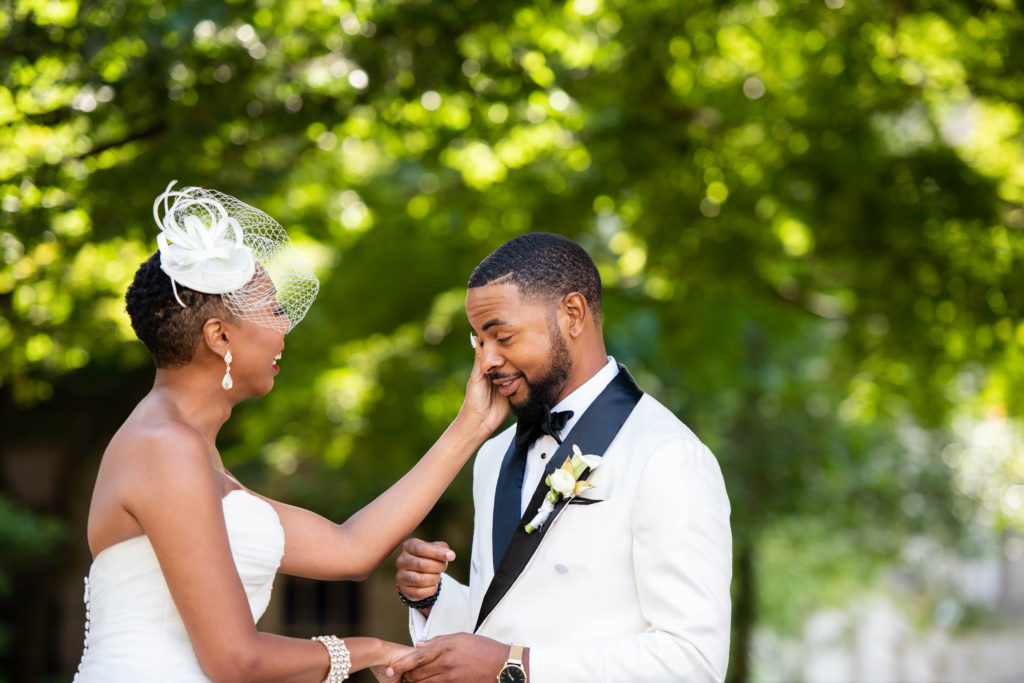 first look reaction maryland wedding planner statuesque events