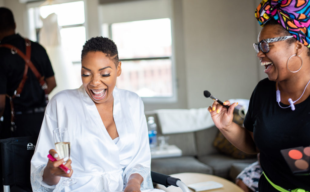 bride and makeup maryland wedding planner statuesque events