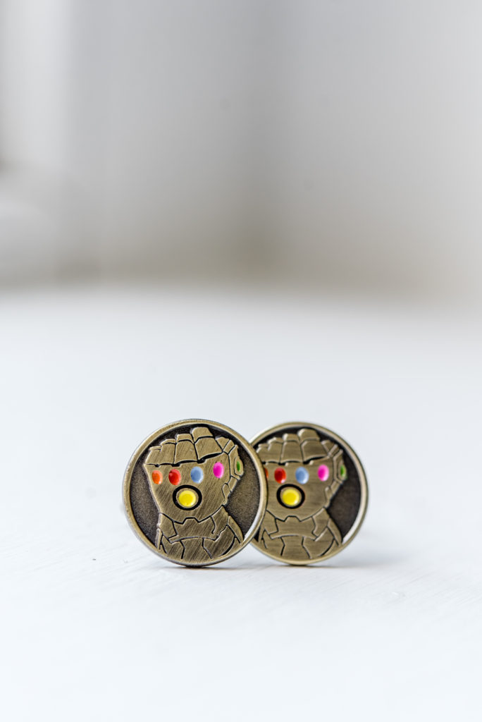 super hero cufflinks wedding day