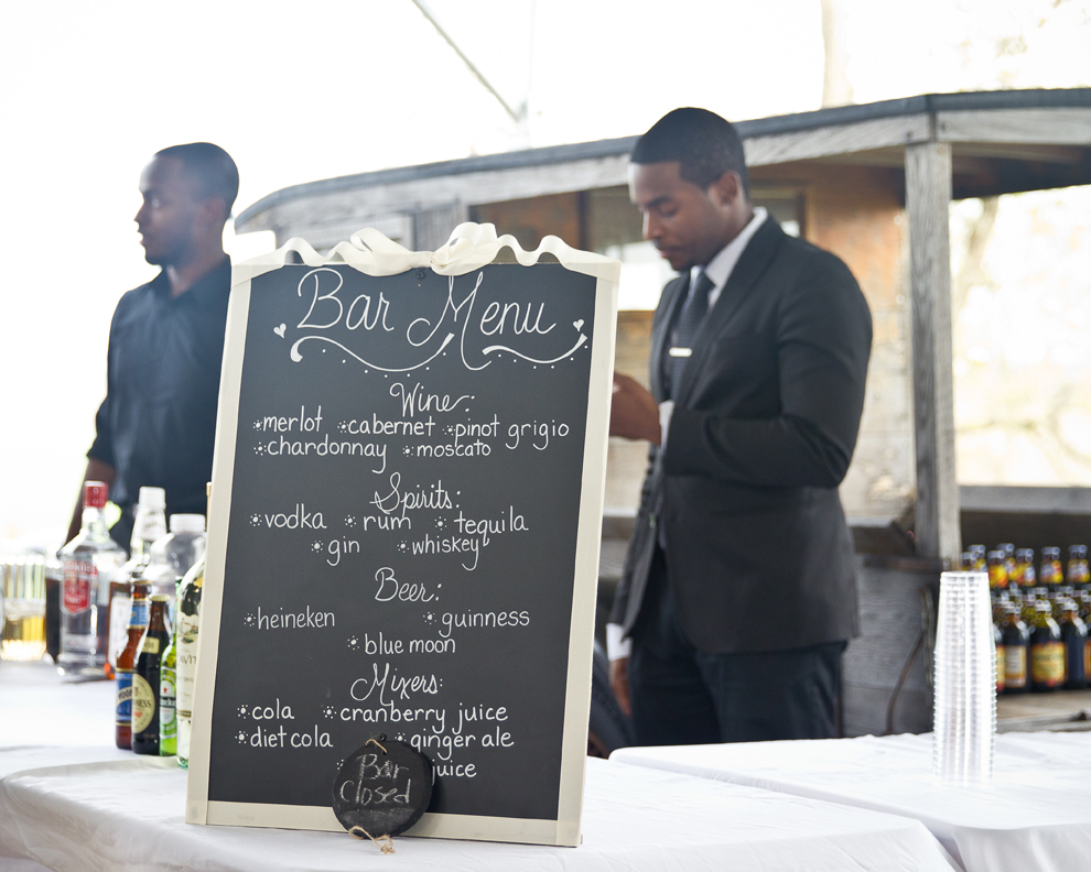 Custom Wedding Chalkboard Crystal and Jay wedding Reception at Walker's Overlook by Asa Photography Statuesque Events Wedding Planning