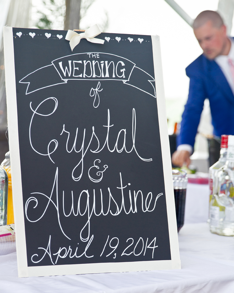 Custom Wedding Chalkboard Bar Crystal and Jay wedding Reception at Walker's Overlook by Asa Photography Statuesque Events Wedding Planning