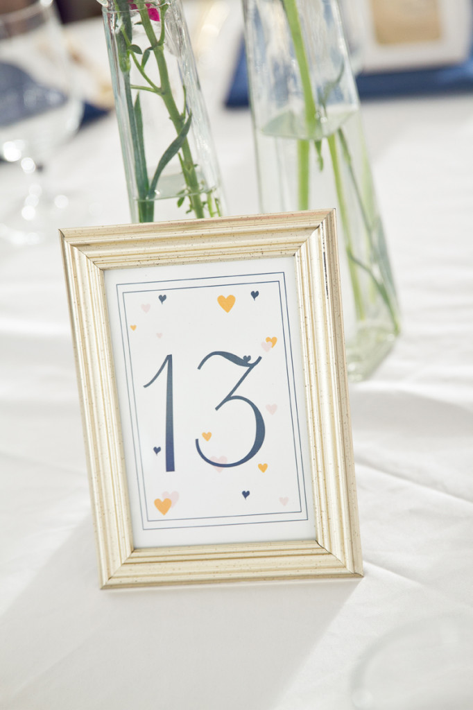 Gold Table Numbers Crystal and Jay wedding Reception at Walker's Overlook by Asa Photography Statuesque Events Wedding Planning