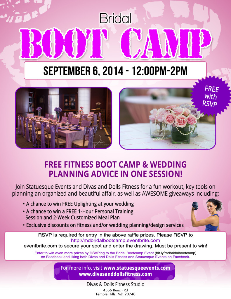 bridal bootcamp maryland divas and dolls fitness
