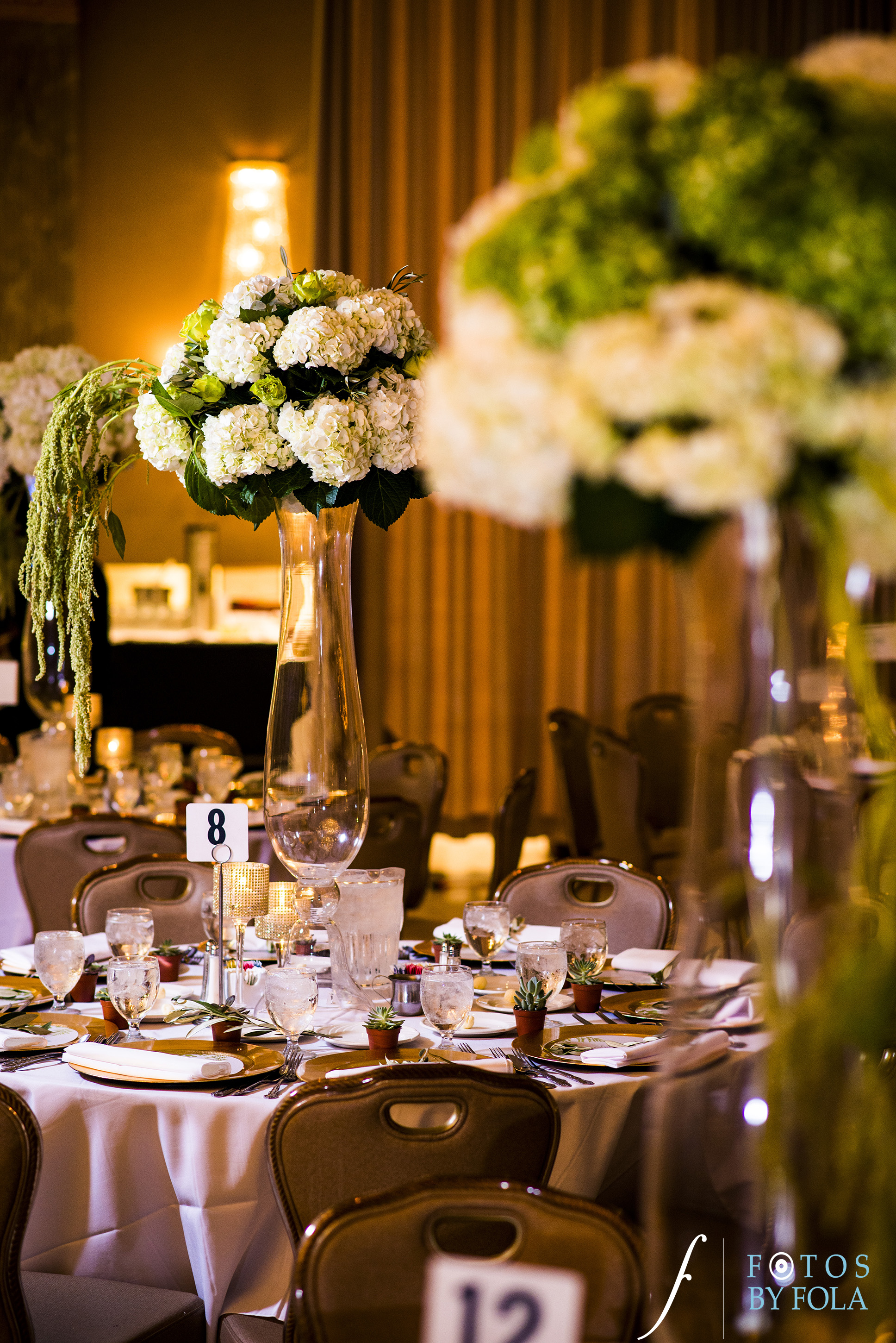 Washington DC Wedding Florist Luxury Green and White Centerpiece