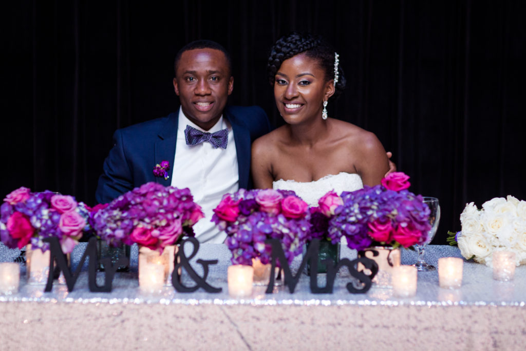 Purple and Silver Wedding in Gaithersburg Maryland