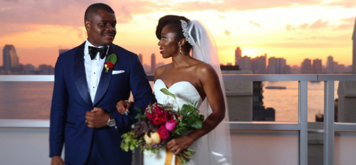Chinny & Chike – A Romantic New York Rooftop Wedding