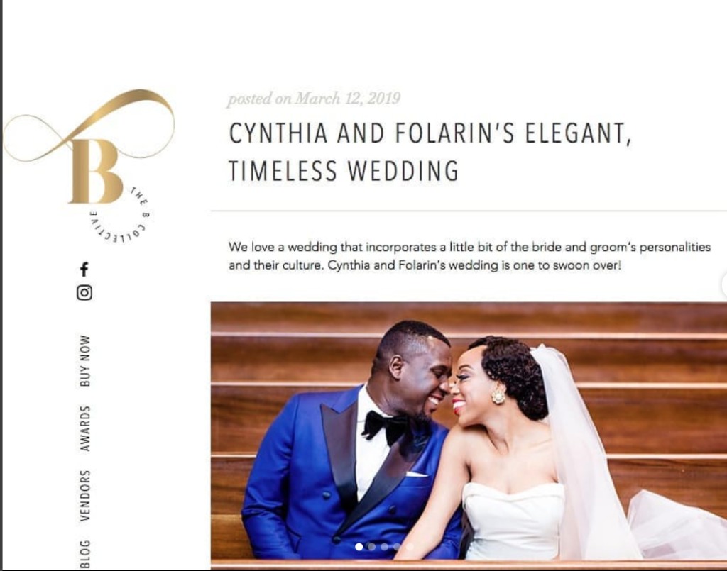 folarin and cynthia tella wedding on bcollective magazine statuesque events maryland wedding planner