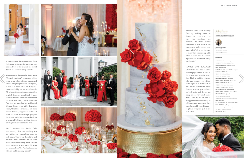 munaluchi bride magazine statuesque events feature red wedding