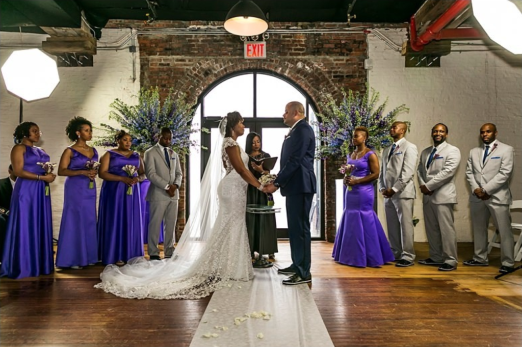 african american wedding planner in brooklyn new york statuesque events liberty warehouse