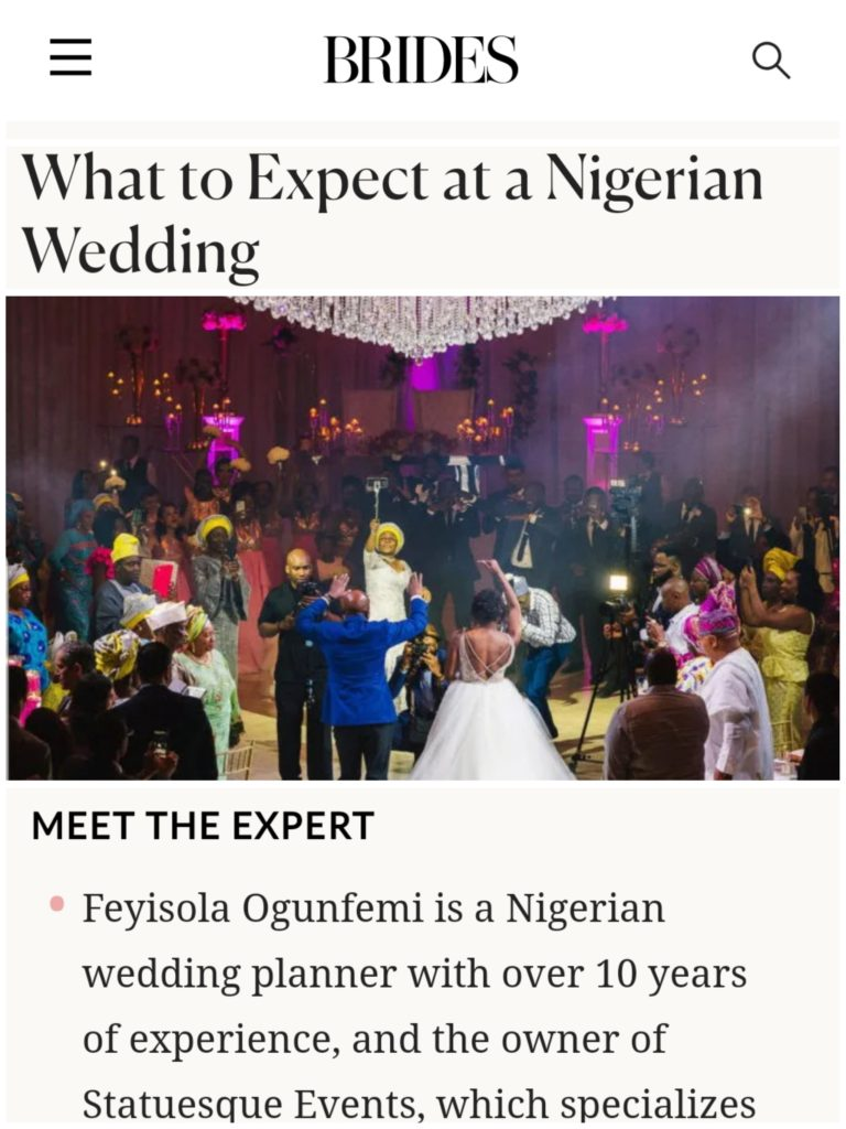 best nigerian wedding planner in usa statuesque events washington dc maryland new york new jersey east coast usa