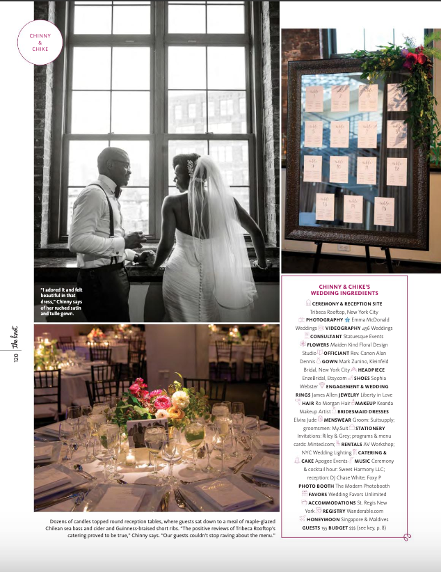 nigerian wedding planner in new york nigerian wedding in magazine