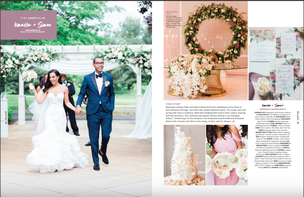 ethiopian wedding planner washington dc statuesque events ethiopian wedding in magazine