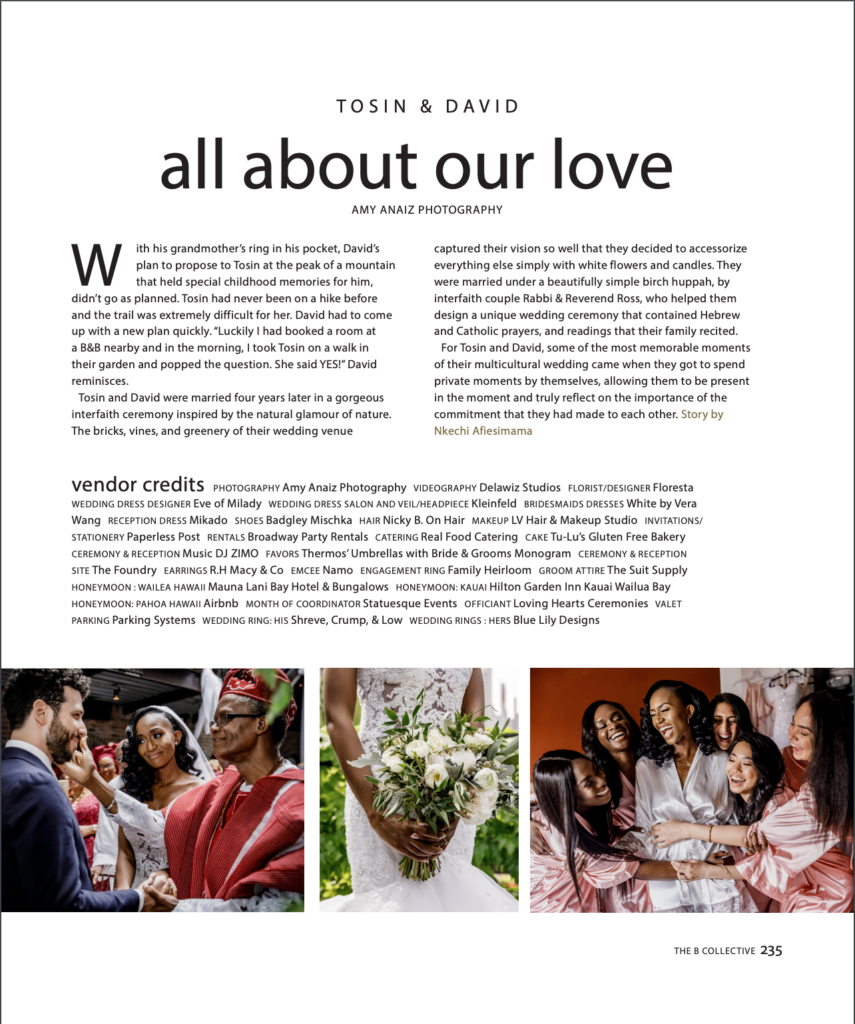 B Collective Magazine Cross cultural wedding planner statuesque events